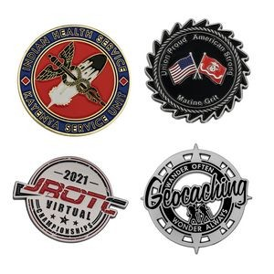 "1 1/2"" Die Cast Challenge Coin Custom"