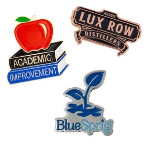 "Custom Lapel Pins - Die Struck Brass Soft Enamel (1"")"
